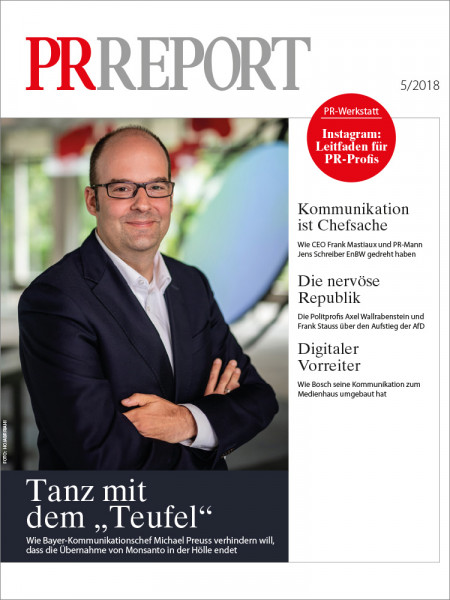 PR Report, Bayer-Kommunikationschef Michael Preuss