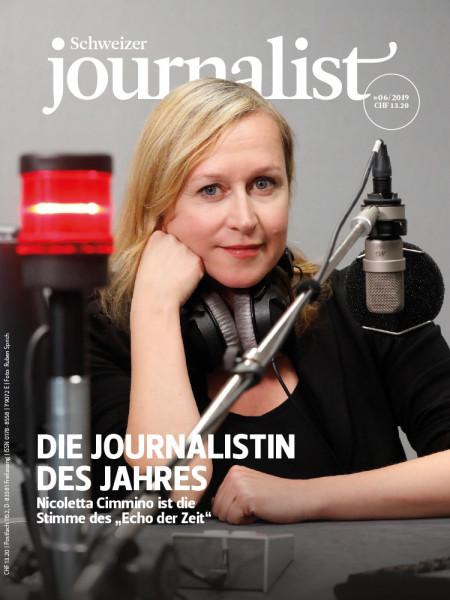 Schweizer Journalist 06/2019, Die Journalistin des Jahres
