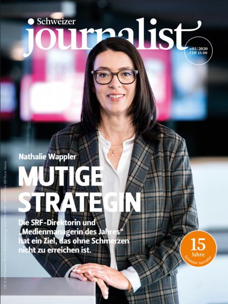 Der Schweizer Journalist 05/2020, SRF-Direktorin Nathalie Wappler hat einen Plan.