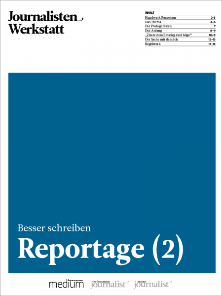 Journalisten Werkstatt: Reportage 2, Stephan Seiler