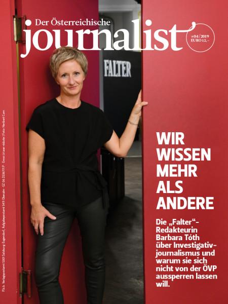Der Österreichische Journalist, Falter Redaktuerin Barbara Tóth