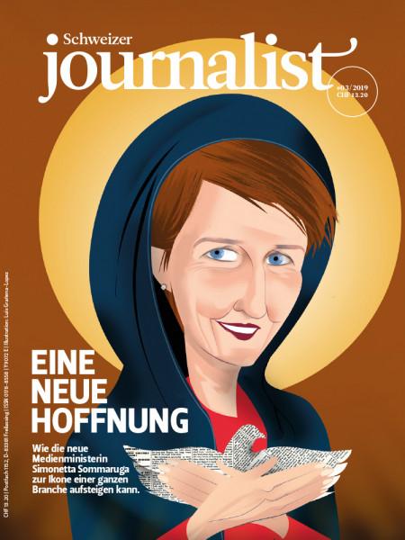 Schweizer journalist, Simonetta Sommaruga, Medienministerin