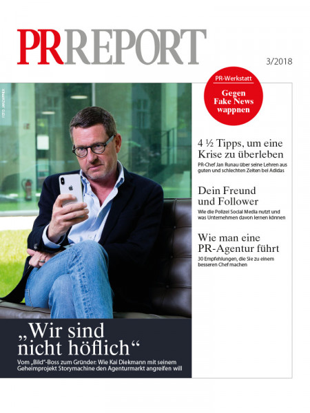"""PR Report: """"Wir sind nicht höflich""""  Vom """"Bild""""-Boss zum Gründer – wie Kai Diekmann mit Storymachine den Agenturmarkt angreifen will."""