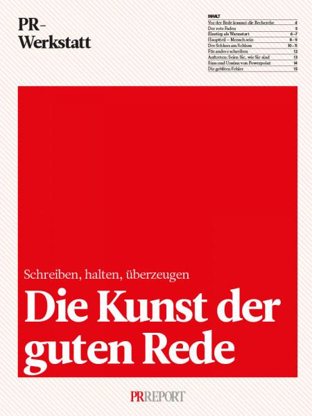 Die Kunst der guten Rede: Schreiben, halten, überzeugen, PR-Werkstatt, Markus Franz