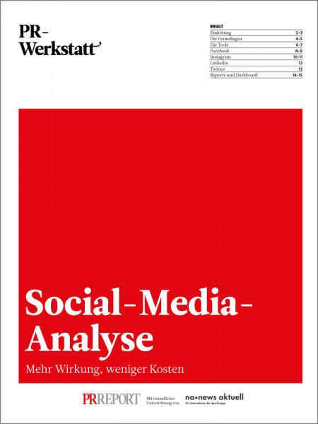PR-Werkstatt, Social-Media-Analyse
