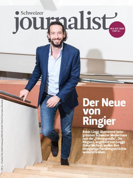"""Schweizer Journalist: Der Neue von Ringier Robin Lingg übernimmt beim grössten Schweizer Medienhaus nun die """"Führungsrolle""""."""