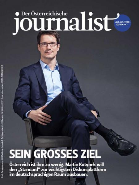 """Der Österreichische Journalist: Martin Kotynek will den """"Standard"""" zur wichtigsten Diskursplattform im deutschsprachigen Raum ausbauen."""