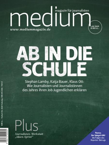 medium magazin: Ab in die Schule  Stephan Lamby, Katja Bauer, Klaus Ott: Wie Journalisten und Journalistinnen des Jahres ihren Job Jugendlichen erklären.