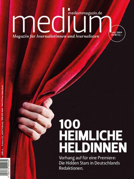 medium magazin: 100 heimliche Hedlinnen, die Hidden Stars in Deutschlands Redaktionen