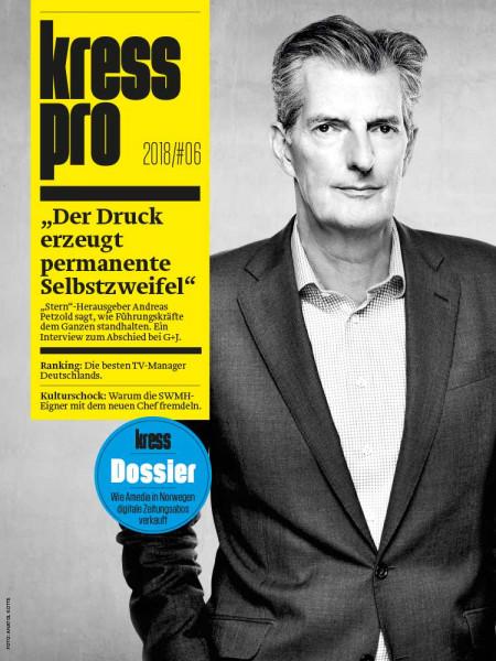"""kress pro: """"Der Kopf liegt auf dem Hackstock"""" """"Stern""""-Herausgeber Andreas Petzold hat fast drei Jahrzehnte lang Redaktionen geleitet. Jetzt verlässt er Gruner + Jahr und spricht zum Abschied über die Tabus der Top-Shots."""