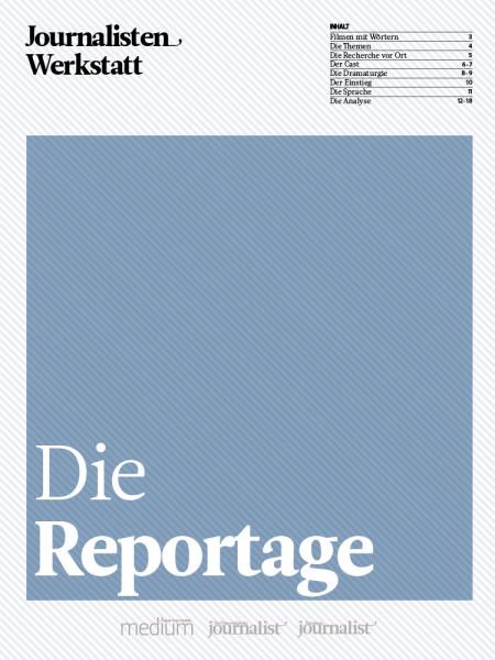 Journalisten Werkstatt: Die Reportage, Peter Linden