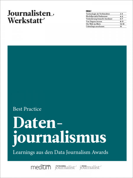 Journalisten Werkstatt, Best Practice Datenjournalist