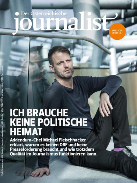 Der Österreichische Journalist, Addendum-Chef Michael Fleischhacker