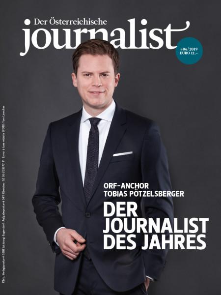 Der Österreichische Journalist, Tobias Pötzelsberger ist der Journalist des Jahres
