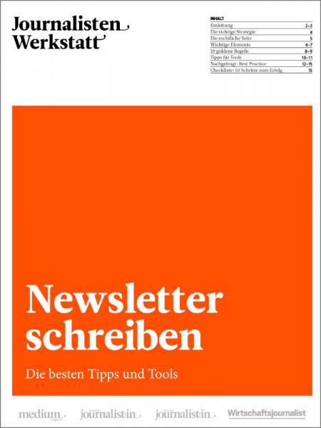 """Journalisten Werkstatt """"Besser schreiben"""": Newsletter schreiben"""