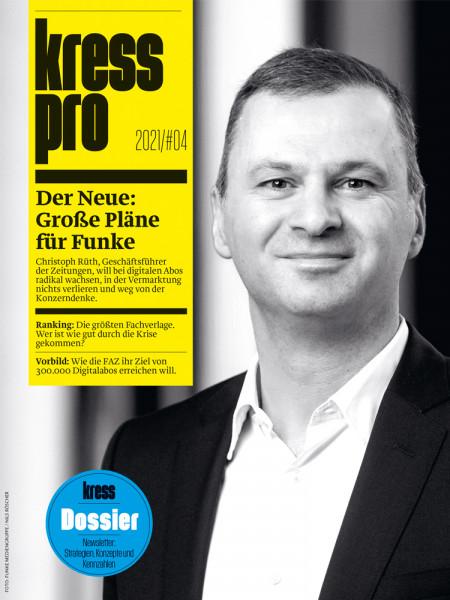 kress pro 2021/04: Christoph Rüth - Der Neue: Große Pläne für Funke