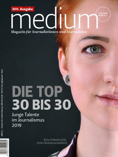 medium magazin, DIe Top 30 bis 30, Junge Talente im Journalismus 2019