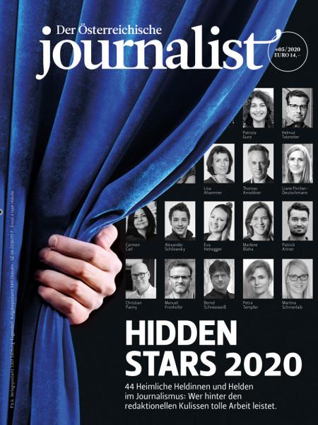Der Österreichische Journalist 2020/05, 44 heimliche Heldinnen und Helden im Journalismus: Wer hinter den redaktionellen Kulissen tolle Arbeit leistet.
