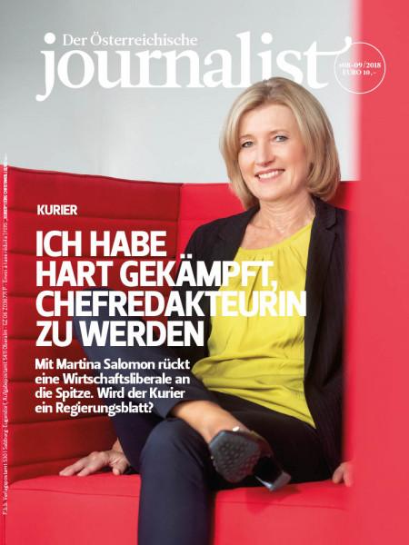 Der Österreichische Journalist: Mit Martina Salomon rückt eine Wirtschaftsliberale an die Spitze. Wird der Kurier ein Regierungsblatt?