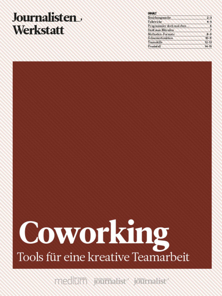 Coworking: Tools für eine kreative Teamarbeit, Journalisten Werkstatt, Martin Virtel, Annette Milz