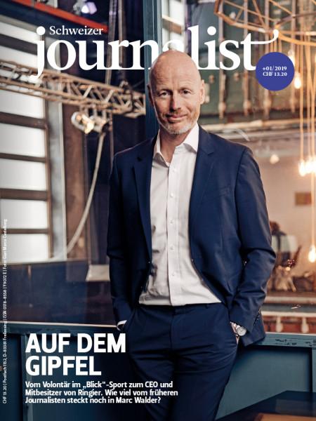 """Schweizer Journalist: Auf dem Gipfel  Vom Volontär im """"Blick""""-Sport zum CEO und Mitbesitzer von Ringier. Wie viel vom früheren Journalisten steckt noch in Marc Walder?"""