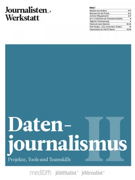 Datenjournalismus: Projekte, Tools und Teamskills, Journalisten Werkstatt, Mirko Lorenz