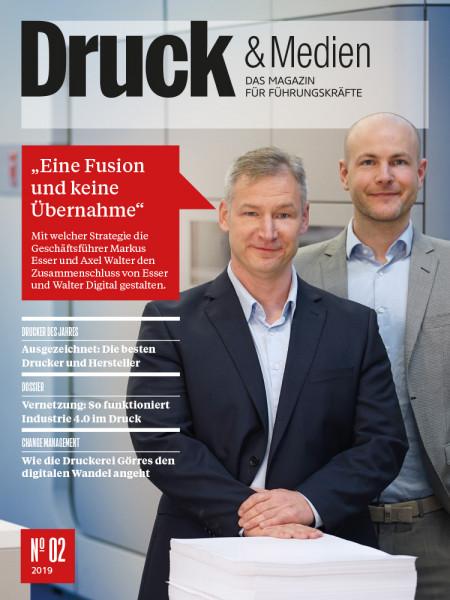 Druck & Medien: Wie Markus Esser und Axel Walter den Zusammenschluss von Esser und Walter Digital gestalten.