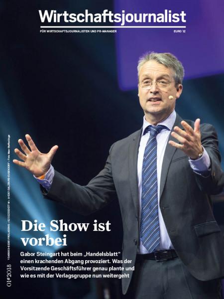 """Wirtschaftsjournalist: Die Show ist vorbei Gabor Steingart hat beim """"Handelsblatt"""" einen krachenden Abgang provoziert"""