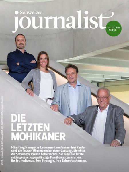Schweizer Journalist: Die letzten Mohikaner Häuptling Hanspeter Lebrument und seine drei Kinder sind die letzten Überlebenden einer Gattung, die einst die Schweizer Presse beherrschte.