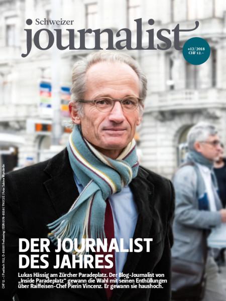 Schweizer Journalist: Die stärksten Storymacher 2018 - Journalisten des Jahres