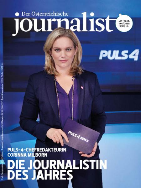 Der Österreichische Journalist: Die Journalistin des Jahres Puls-4-Chefredakteurin Corinna Milborn