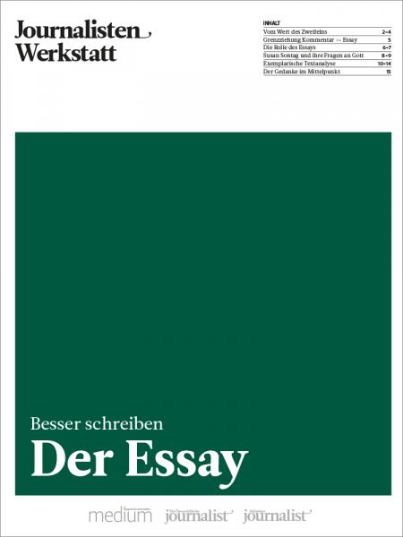 Journalisten Werkstatt: Der Essay, Peter Linden