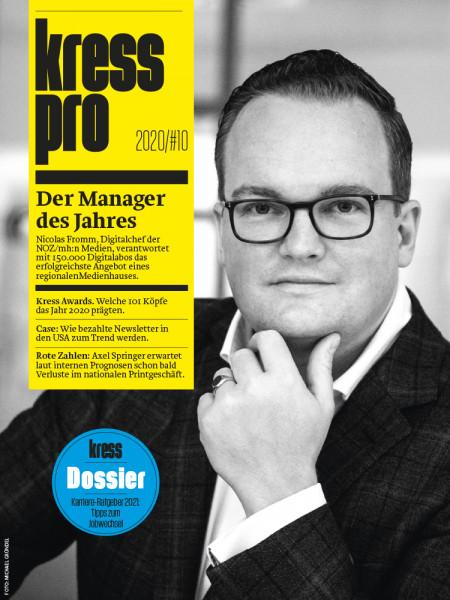 kress pro 2020/10 Der Manager des Jahres: Nicolas Fromm, NOZ/Mh:n Medien