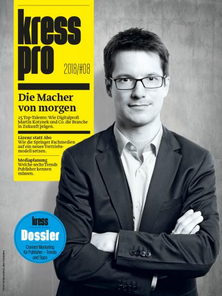 kress pro: Die Macher von morgen 25 Top-Talente: Wie Digitalprofi Martin Kotynek und Co. die Branche in Zukunft prägen.