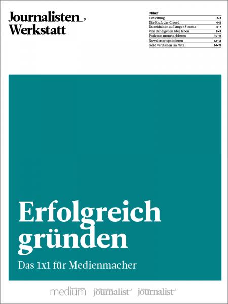 Journalisten Werkstatt: Erfolgreich gründen, Pauline Tillmann