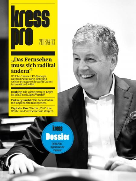 kress pro: Das Fernsehen muss sich radikal ändern!  Das sagt Gerhard Zeiler. Als Präsident von Turner International verantwortet der Ex-RTL-Chef heute mehr als 180 Kanäle in über 200 Ländern