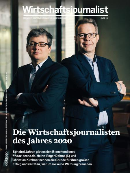 Wirtschaftsjournalist 6/2020: Die Wirtschaftsjournalisten des Jahres 2020