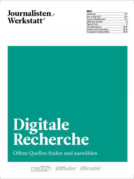 Journalisten Werkstatt Digitale Recherche