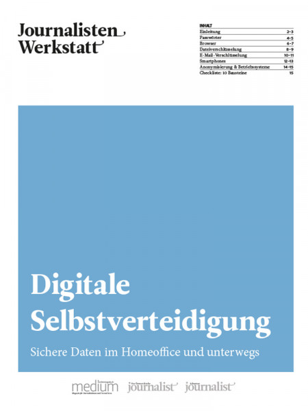 Journalisten Werkstatt Digitale Selbstverteidigung
