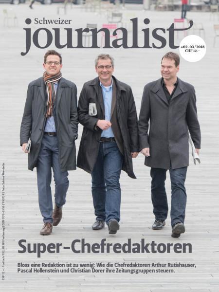Schweizer Journalist: Die drei Super-Chefredaktoren Arthur Rutishauser, Christian Dorer und Pascal Hollenstein dominieren den Zeitungsjournalismus in der Schweiz.
