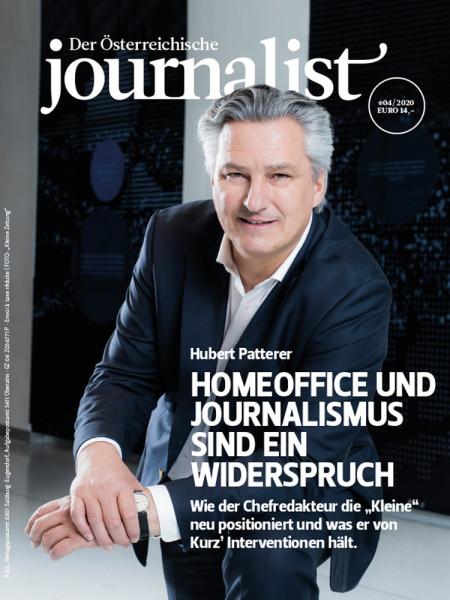 Der Österreichische Journalist, Homeoffice und Journalismus sind ein Widerspruch