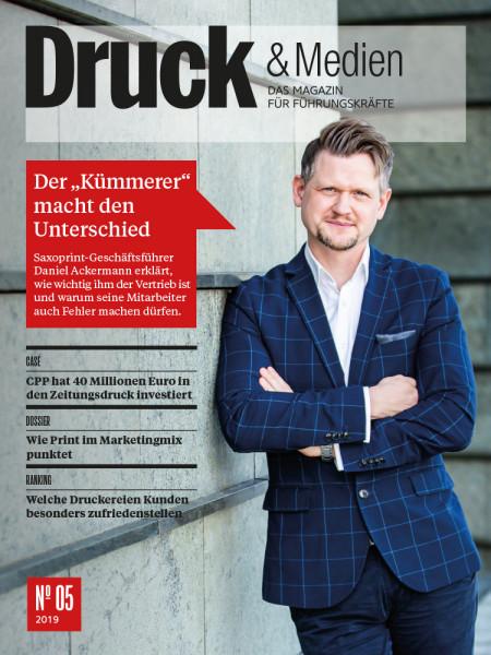 Druck & Medien, 2019#05, Saxoprint-Geschäftsführer Daniel Ackermann