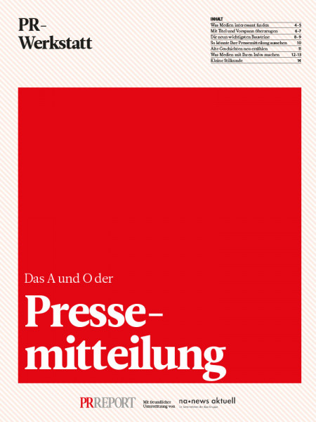Pressemitteilung: Das A und O der Pressemitteilung, PR-Werkstatt, Martin Roos